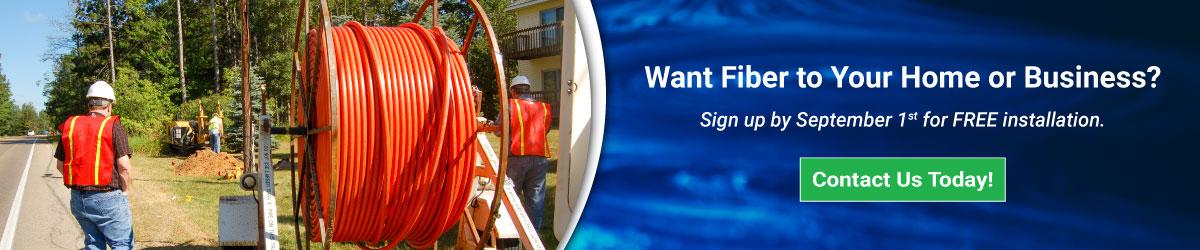 Southwest Broadband Technicians installing fiber internet